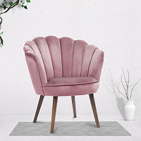 Scalloped accent chair 1049