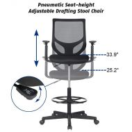 Drafting Chair Tall Office Mesh Chair for Standing Desk 1702F5
