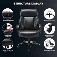 Big and Tall Bonded Leather Executive Office Chair with Lumbar Support 2181E