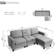 Reversible Sectional Sofa 3-set SF1122
