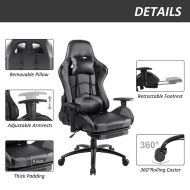 Ergonomic Gaming Chair with Retractable Footrest 3476L1WM