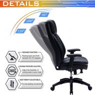 Ergonomic Office Chair with Padded Headrest and Doudle Padded Seat Cushion 9105