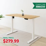 Kana Electric Height Adjustable Standing Desk W/ Bamboo Top