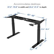 Electric Height Adjustable Desk: 3-Stage Quick Installation Option E6 dimension