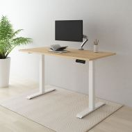 Electric Height Adjustable Standing Desk With Bamboo Top