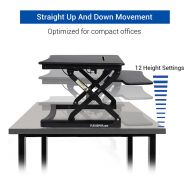 Standing Desk Desktop Workstation Black - ClassicRiser M1B 27