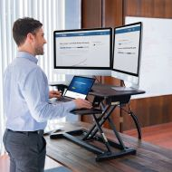 Flexispot Motorized Electric Standing Desk Converter EM7MB