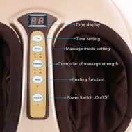 FLEXISPOT Foot Massager Kneading Shiatsu Therapy Plantar Massage with Heat Function Auto-Off Timer and Removable Cover Power Adapter (Gold)