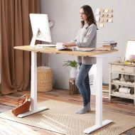 Electric Height Adjustable Desk with Rectangular Top