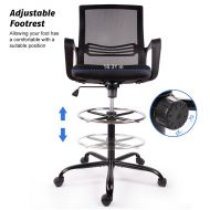 Drafting Chair Tall Office Mesh Chair with Foot Ring 1839F5
