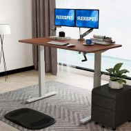 Manual Height Adjustable Desk with Rectangular Top