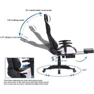 Ergonomic Gaming Chair with Footrest X0024LF6H1
