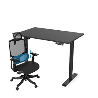"Favorite Combo: Standing Desk 48""+ Office Chair OC5G"