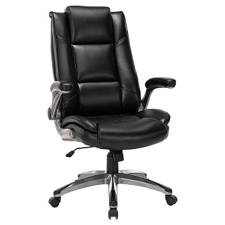 Executive Leather Office Adjustable Tilt Angle Swivel Chair 286