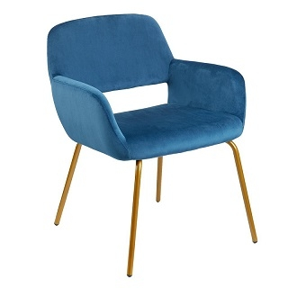 Modern Velvet Accent Chair Claudia