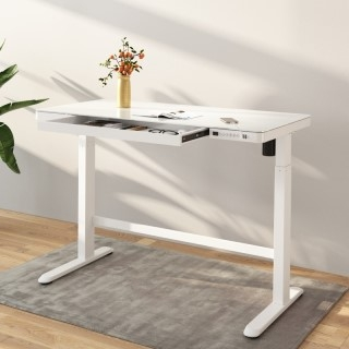 "Comhar All-in-One Standing Desk Glass Top - 48"" W"