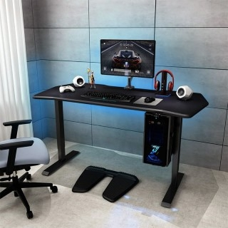 "Electric Height Adjustable Gaming Desk - 55"" W"