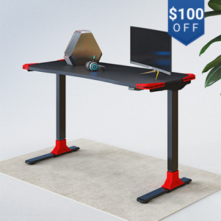 """Electric Height Adjustable Gaming Desk - 48"""" W"""