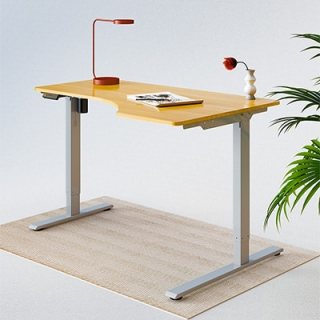 Seiffen Laminated Spliced L-shaped Standing Desk
