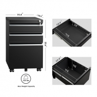 Mobile File Cabinet with Lock 002