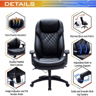 Ergonomic Office Chair with Padded Headrest and Doudle Padded Seat Cushion 9107