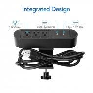 Clamp Power Strip With USB PS11B
