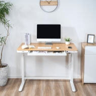 Comhar All-in-One Standing Desk Bamboo Texture Top - 48