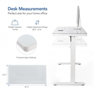 Comhar All-in-One Standing Desk (Tempered Glass/Wooden Tabletop) EG8/EW8