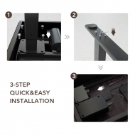 3-step quick and easy installation of Theodore Standing Desk UD1B