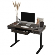 Theodore Standing Desk UD1B with desk drawer open