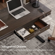 Drawer size of Theodore Standing Desk UD1B is 11 x 2.6 x 21.8 inch