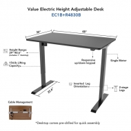 flexispot electric height adjustable standing desk dimension