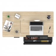 Height Adjustable Drafting Table with Spacious Integrated Drawer