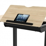 Height Adjustable Drafting Table with Safety Ledge Stopper