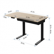 Height Adjustable Drafting Table Size