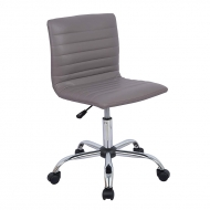 Ribbed Low Back Armless Swivel Desk Chair 1391L11
