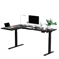 Black L Shaped Electric Standing Desk