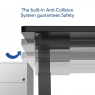 The built-in anti-collision system guarantees safety.