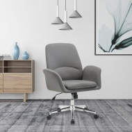 Upholstered Swivel Accent Chair With Wheels Rubi