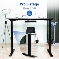 Pro 3-stage inverted, height range from 25
