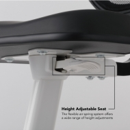 Height Adjustable Seat The flexible air spring system offers a wide range of height adjustments