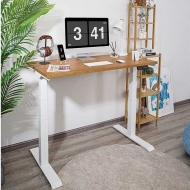 Willow Solid Wood Standing Desk Cherry Wood