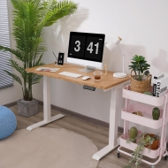 Willow Solid Wood Standing Desk Red Oak