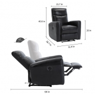 leather  Massage recliner 9086