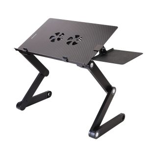 Portable Folding Sit Stand Desk With Dual Fans T8
