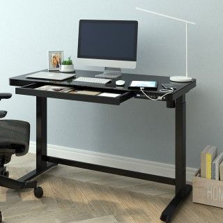 Comhar All-in-One Standing Desk (Tempered GlassWooden Tabletop) EG8 EW8
