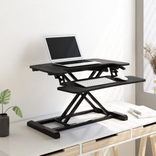 "FlexiSpot Stand up Desk Converter -28"" Standing Desk Riser with Deep Keyboard Tray for Laptop"