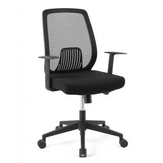 FlexiSpot office chair OC1B black color with breathable mesh back.