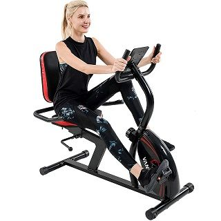 Recumbent Exercise Bike 16 Levels Magnetic Tension Resistance 380 lbs.401&402
