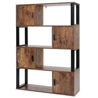 Bookcase with 4 Storage Cabinet 006X